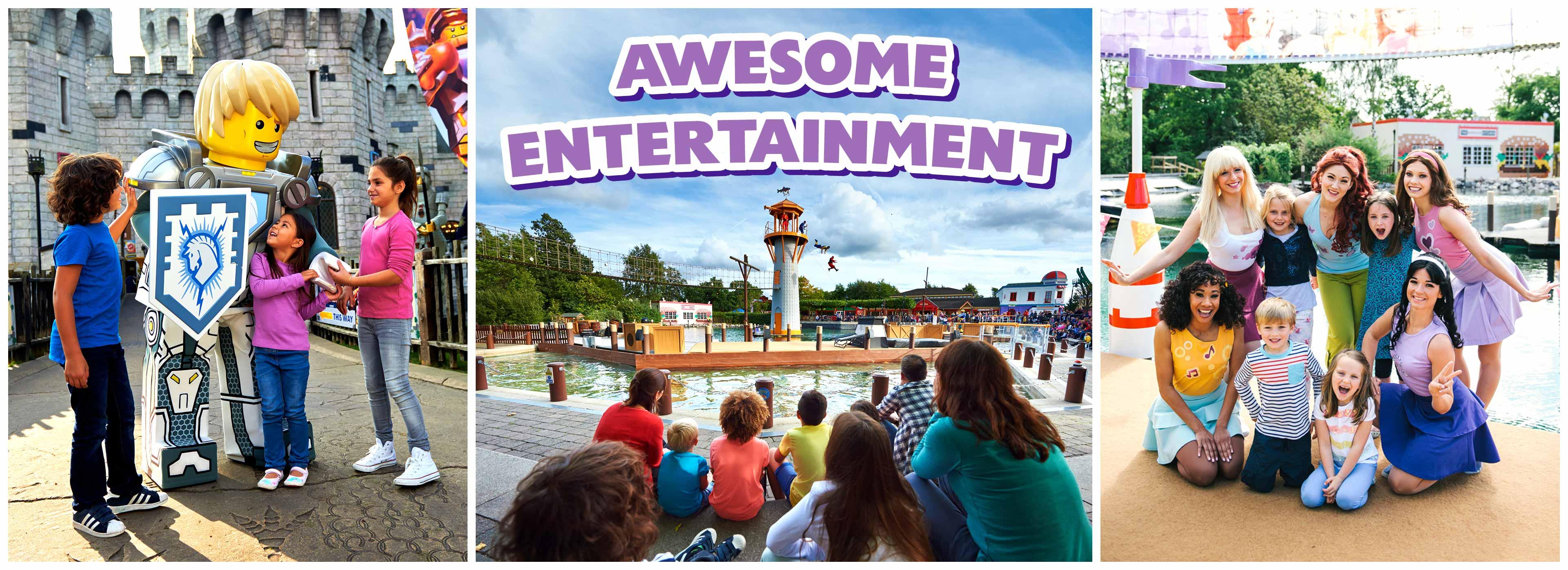 Enjoy a variety of entertainment on offer at LEGOLAND Windsor Resort!