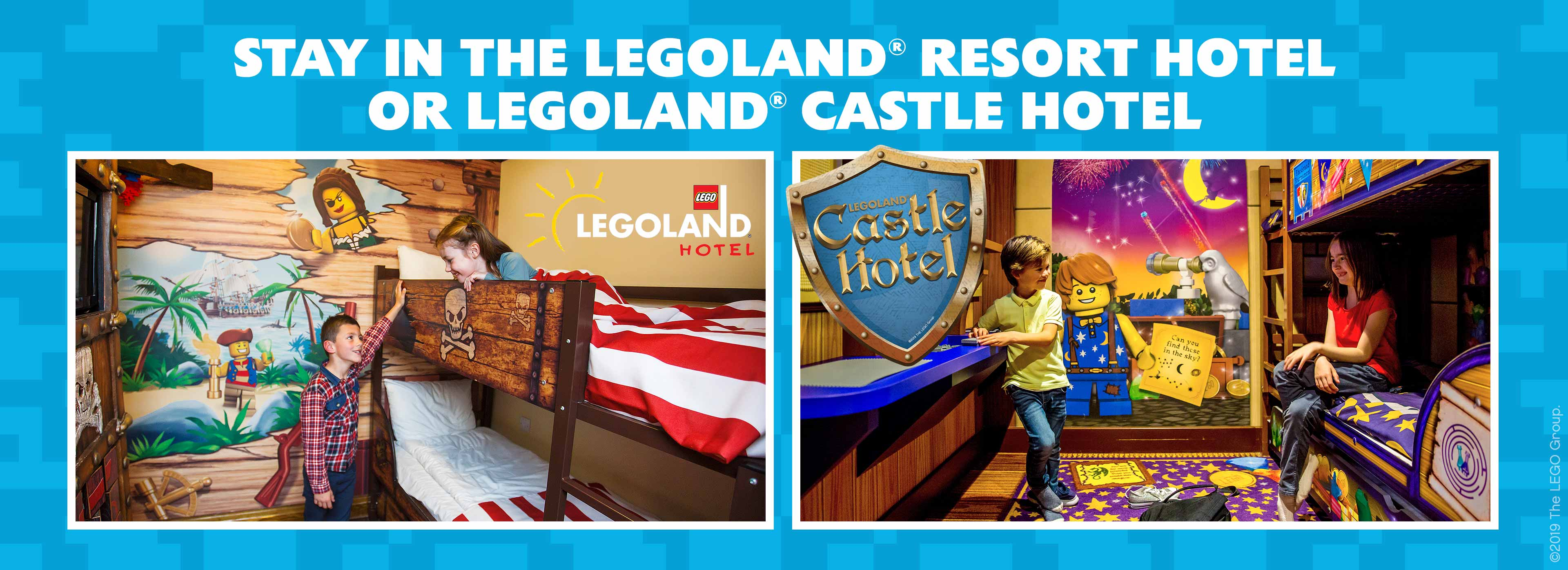 Resort accommodation at the LEGOLAND Windsor Resort