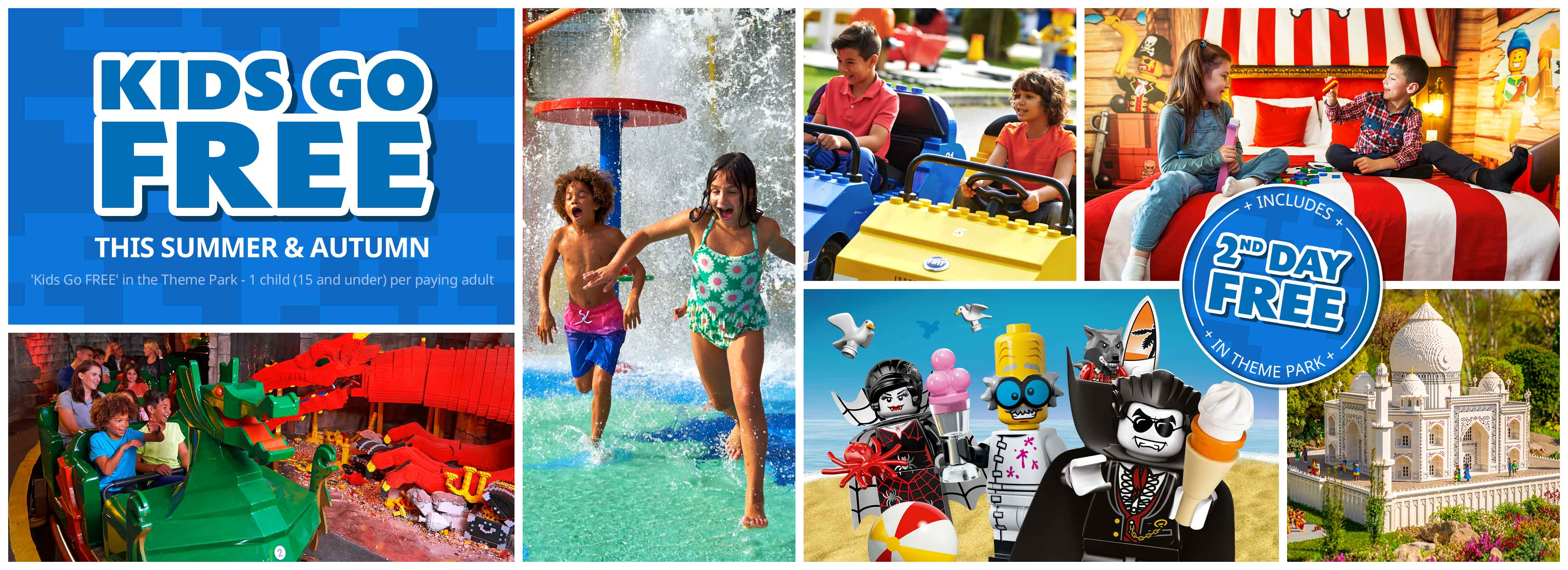 Treat the family to a LEGOLAND<sup>®</sup> Windsor holiday this summer and your Kids Go & Stay FREE!