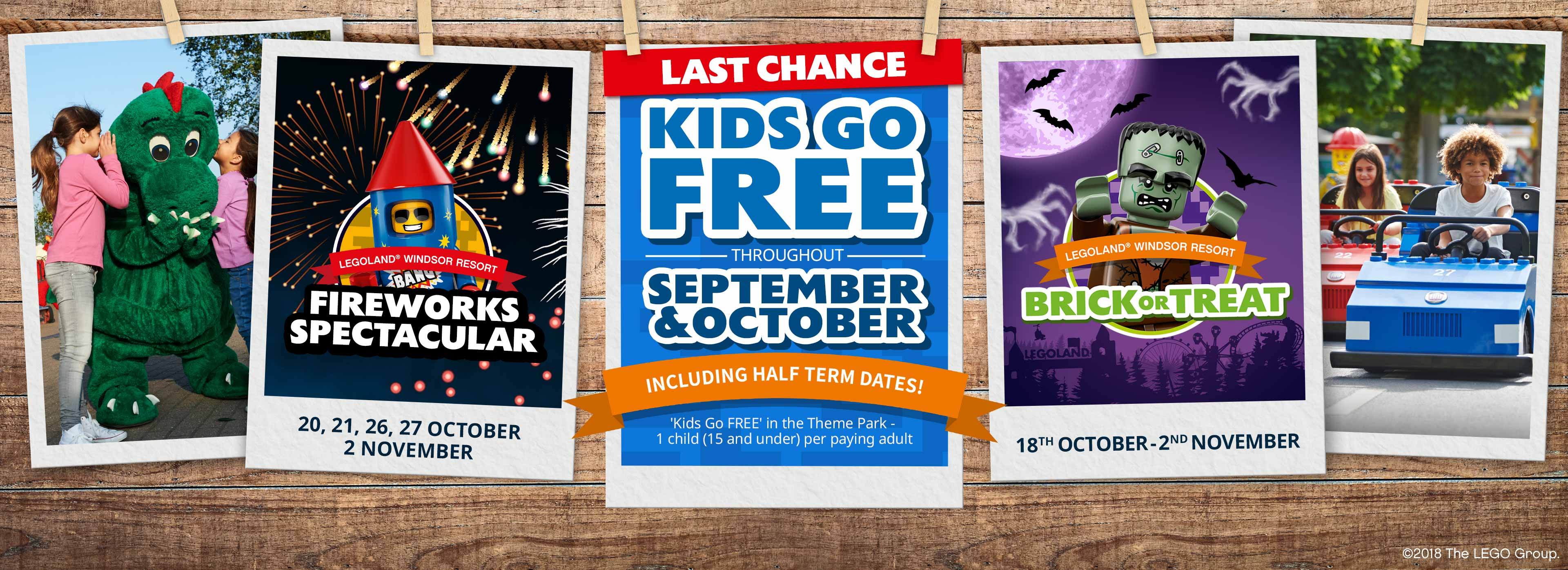 Last chance – Kids Go FREE this September and October – including Halloween dates