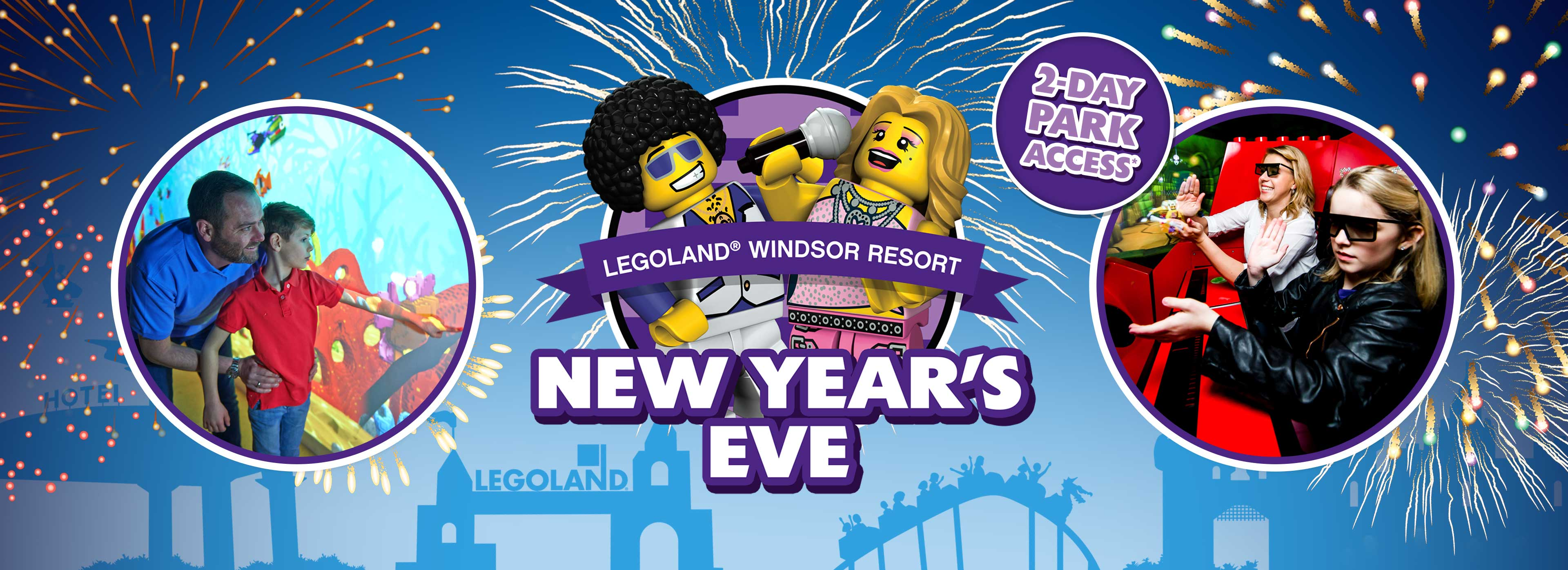Book your family's LEGOLAND Windsor Resort New Year's Eve short break today!