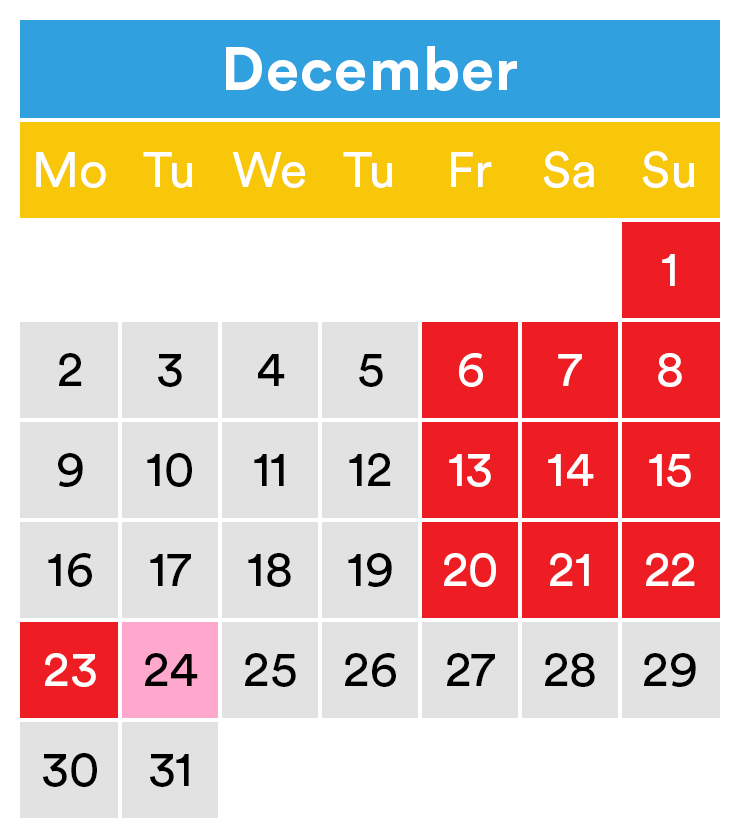 LEGOLAND opening times December 2019