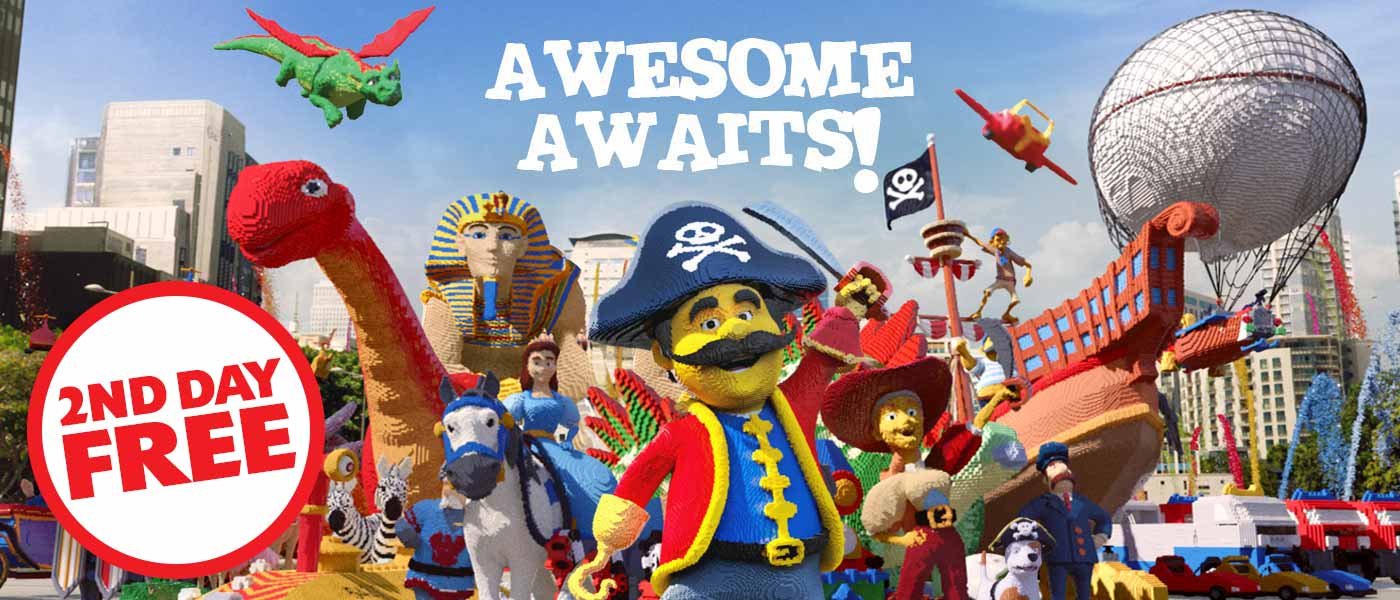 2nd Day FREE with LEGOLAND Holidays