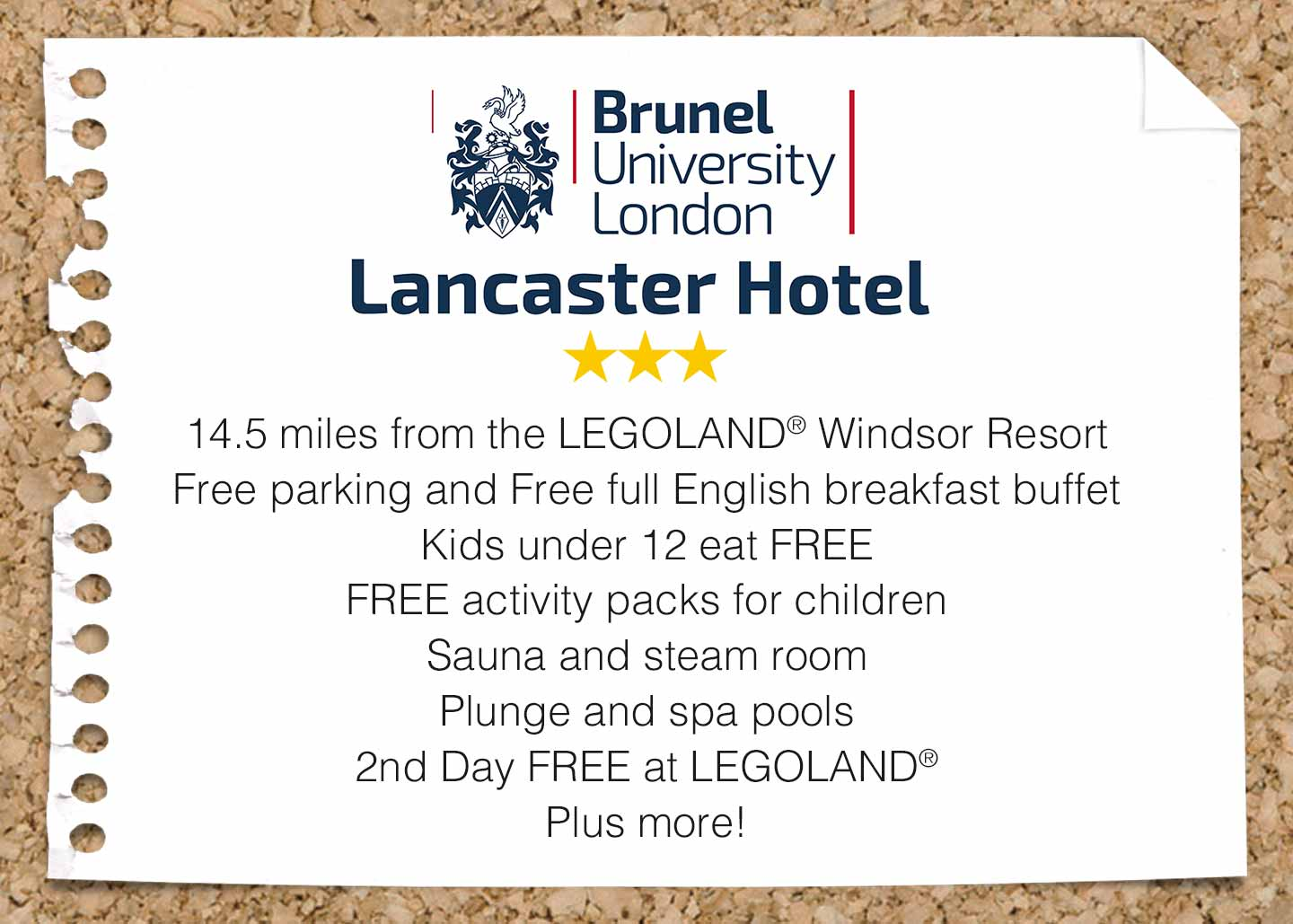 The Lancaster Hotel with Legoland® Holidays