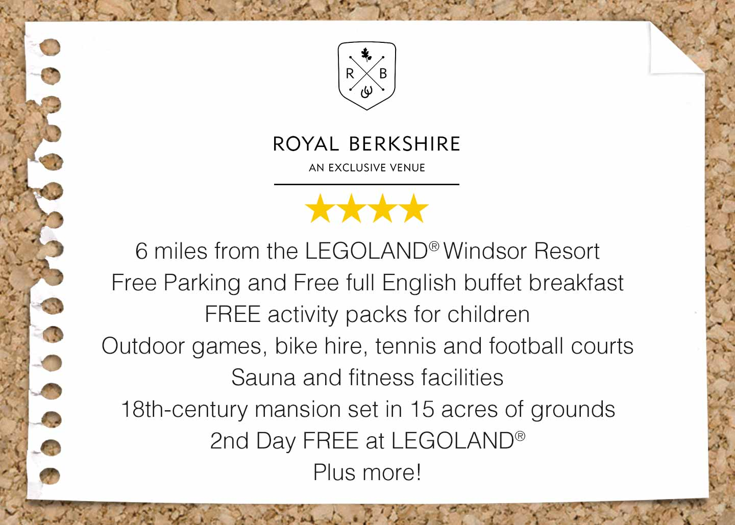 Royal Berkshire Hotel near LEGOLAND Windsor Resort