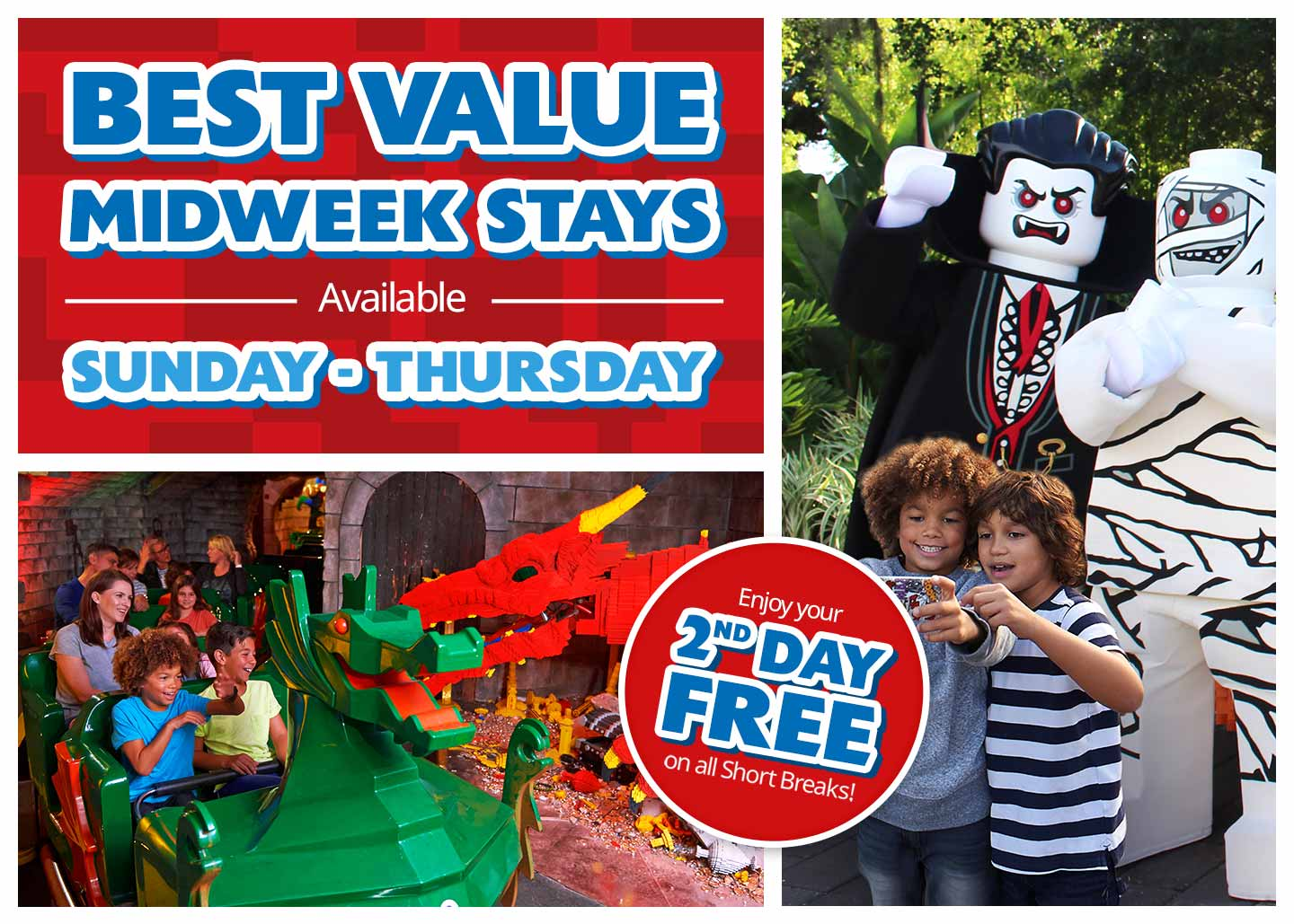 Best Value Midweek Breaks at LEGOLAND Windsor Resort!