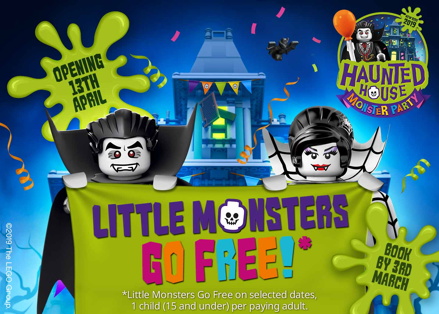 Little Monsters Go FREE in 2019 with LEGOLAND HOLIDAYS