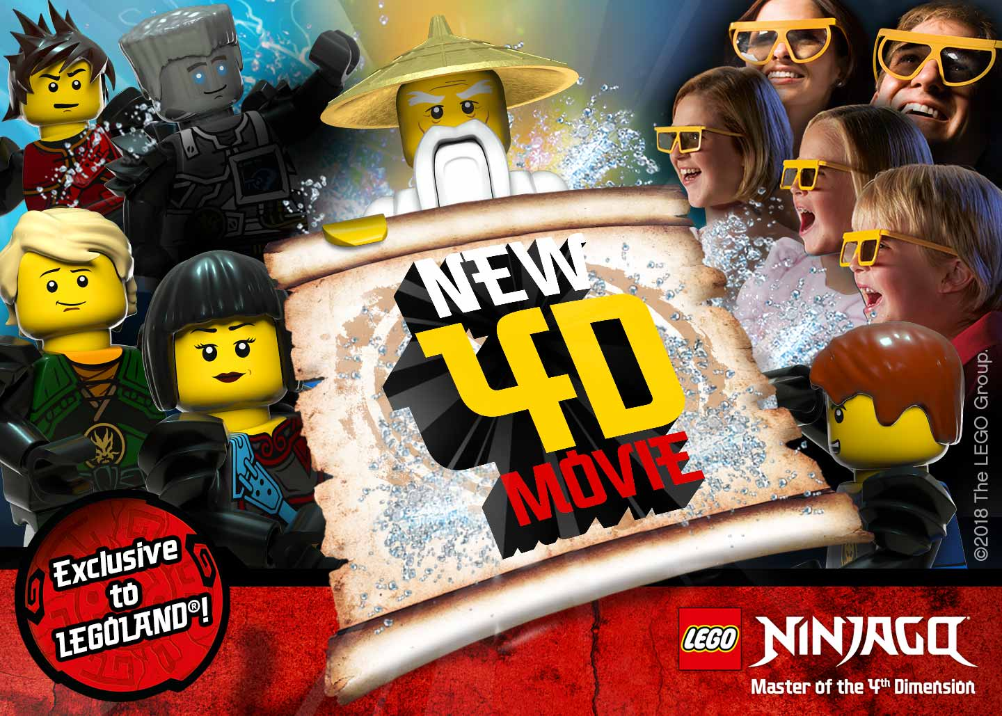 New Ninjago 4D movie coming to LEGOLAND Windsor Resort in 2018