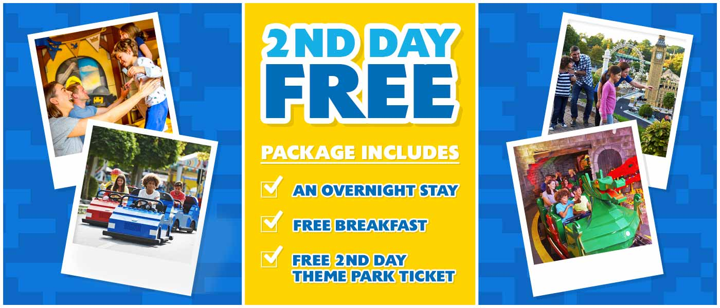 2nd day free at Legoland